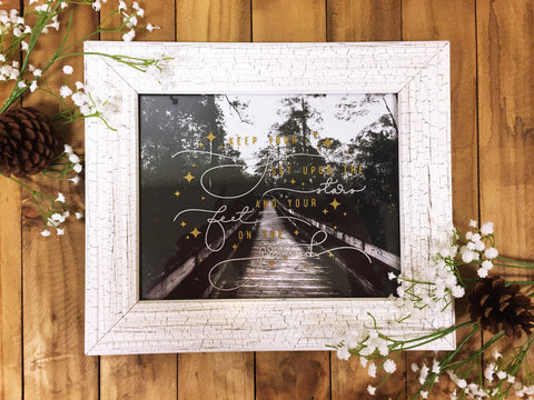 Keep Your Eyes Set Upon the Stars Photography Wood 8x10 Frame