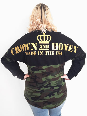 Crown & Honey Army Camo Game Day Jersey
