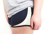Crown & Honey Running Shorts - Navy/Lime