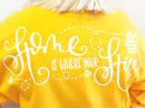 Home Is Where Your Hive Is Game Day Jersey - Golden Yellow