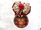 Buffalo Check Moose Custom Family Christmas Ornament
