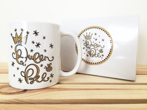 Gold Queen Bee Coffee Mug