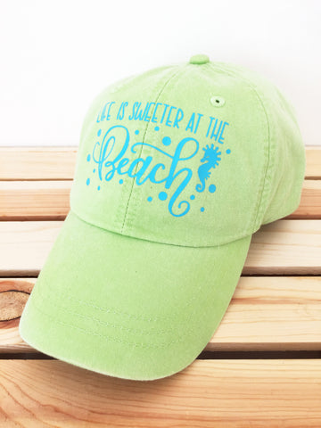 Life is Sweeter at the Beach Baseball Hat