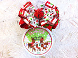 North Pole Reindeers Custom Family Christmas Ornament