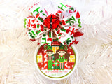 North Pole Elf Elves Custom Family Christmas Ornament