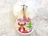 Moose Girl Custom Christmas Ornament