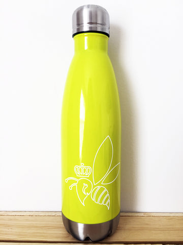 Crown & Honey Bee Stainless Steel Thermal Bottle - Yellow