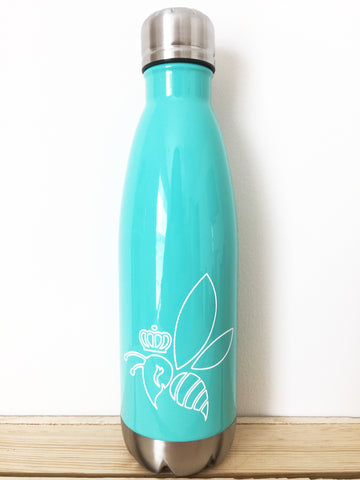 Crown & Honey Bee Stainless Steel Thermal Bottle - Mint