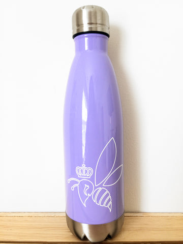 Crown & Honey Bee Stainless Steel Thermal Bottle - Lavender