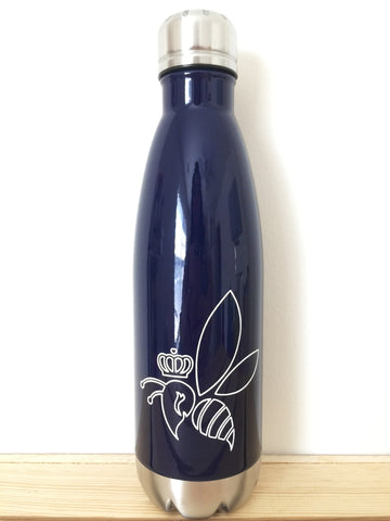 Crown & Honey Bee Stainless Steel Thermal Bottle - Midnight