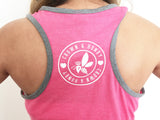 Crown & Honey Two Tone Raceback Tank Top - Watermelon