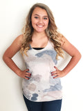 Watercolor Brush Strokes Racerback Tank