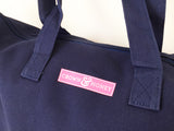 Crown & Honey Canvas Zipper Tote - Navy