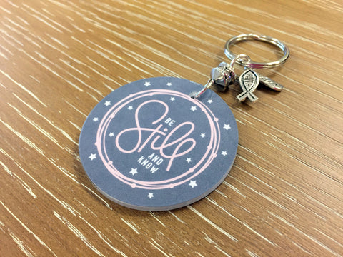 Be Still and Know Christian Key Chain