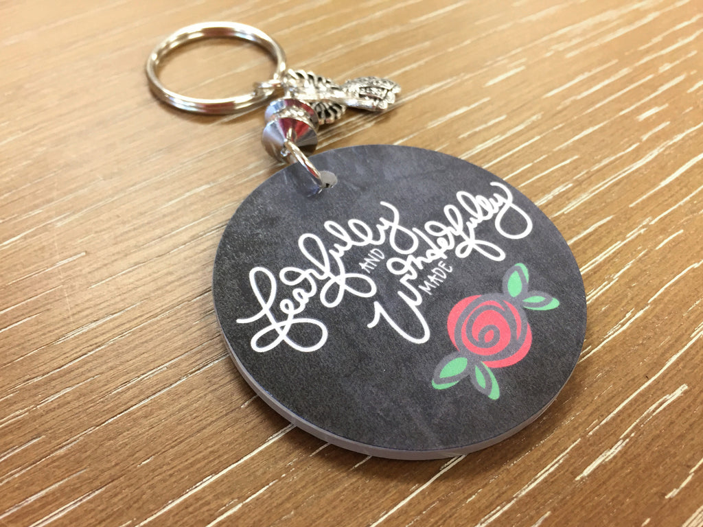 Fearfully and Wonderfully Made Key Chain