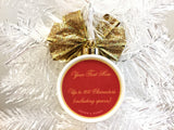 Jingle Bells Custom Wedding Christmas Ornament - Gold Bells