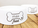Personalized Porcelain Treat Jar and Dog Bowl Set