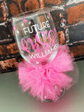 Future Mrs. Bridal Glass Personalized and Custom Colors