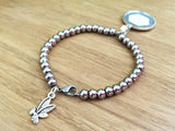 Forgiveness Starts with Changing Your Perception Stainless Steel Glitter Bracelet