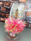 Wifey Wine Glass Personalized and Custom Colors
