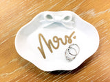 Mrs. Bride Ring Dish Jewelry Dish