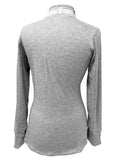 Marled Crown & Honey Space Gray 1/4 Zip Pullover Silver