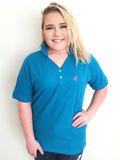 Crown and Honey Polo Teal