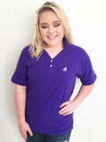 Crown and Honey Polo Purple