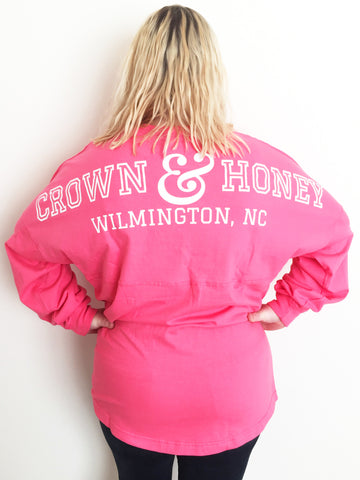 Crown and Honey Game Day Jersey HOT PINK
