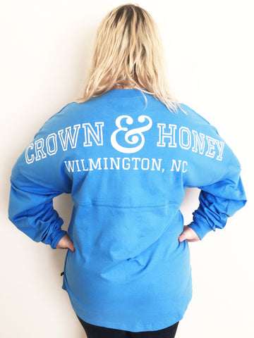 Crown and Honey Game Day Jersey OCEAN BLUE
