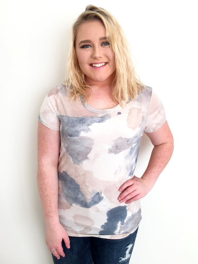 Watercolor Brush Strokes Short Sleeve Tee