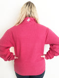 Crown & Honey Quarter Zip Pullover - Berry