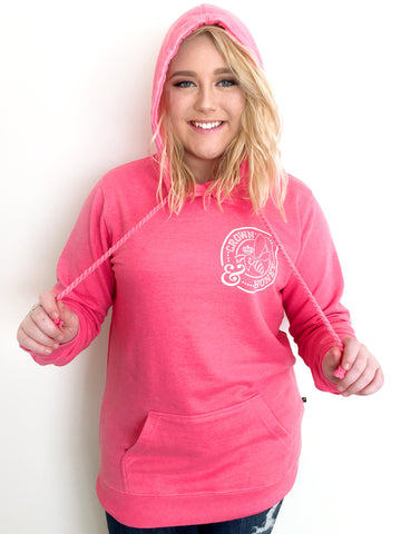 Crown and Honey Logo Hoodie Rose Pink