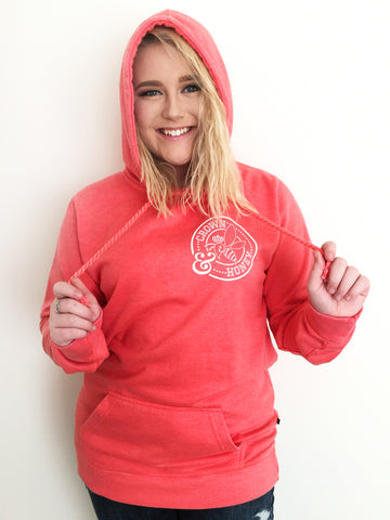 Crown and Honey Logo Hoodie Tangerine