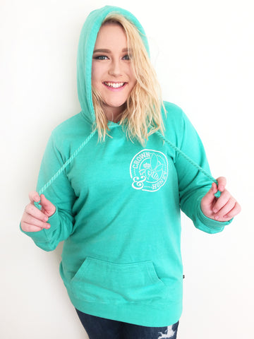 Crown and Honey Logo Hoodie Mint