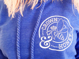 Crown and Honey Logo Hoodie Periwinkle