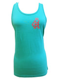 Tank Top  Teal/Coral  Logo  Crown & Honey