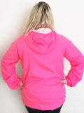 Crown & Honey 1/4 Zip Lined Anorak Rain Jacket - Pink