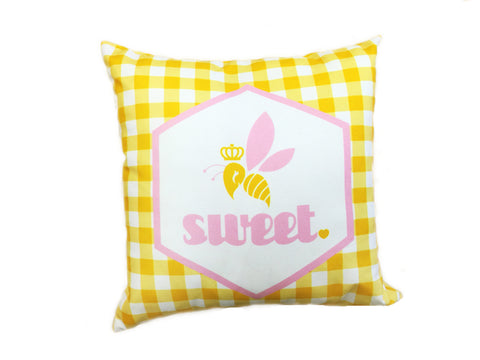 Bee Sweet Pillow - Yellow
