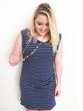 Navy Striped Dress/Tunic