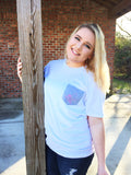 Honeybee Gray Pocket Short Sleve Tee