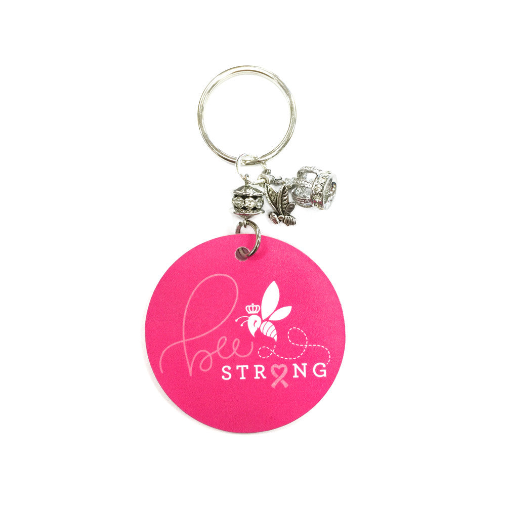 Bee Strong Breast Cancer Awareness Key Chain
