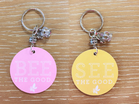 Bee the Good See the Good Key Chain