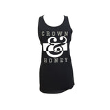 Tank Top  Black and White Logo  Crown & Honey