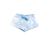 Ruffle Seersucker Shorts - Blue