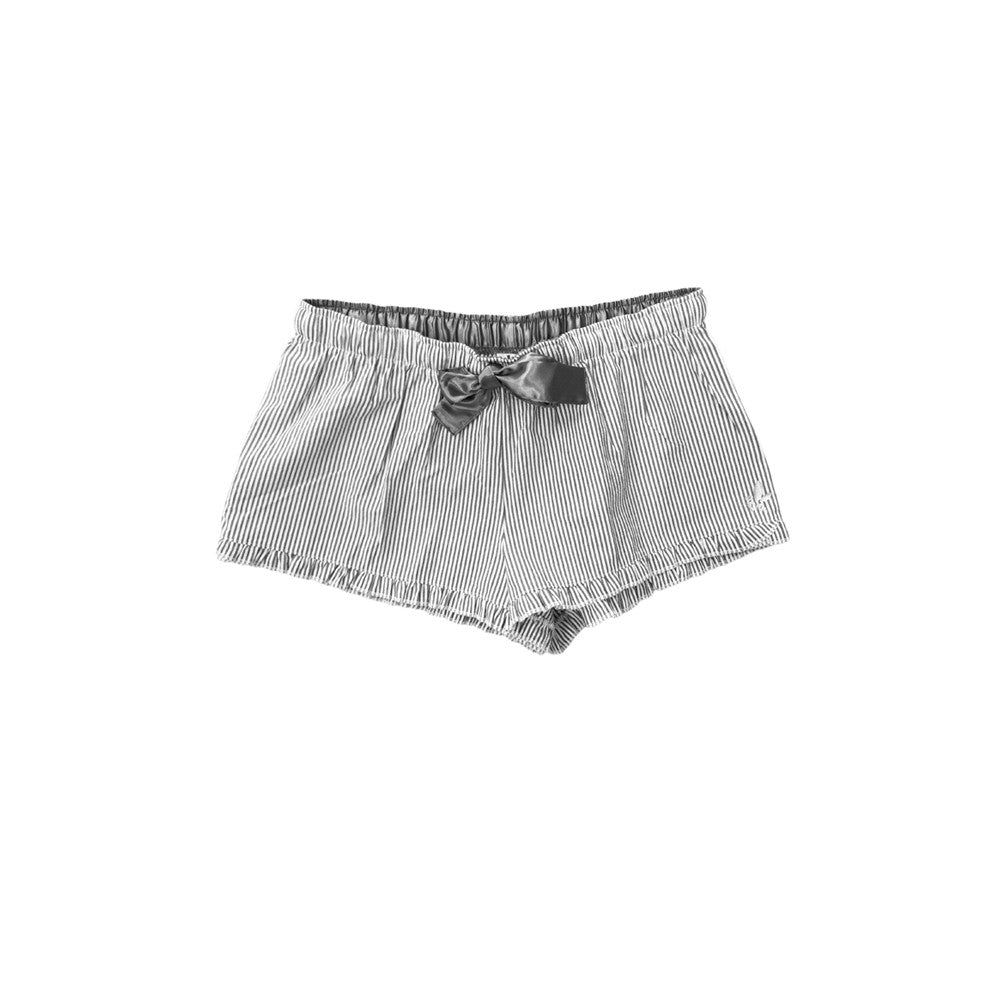 Ruffle Seersucker Shorts - Charcoal