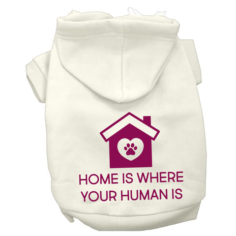 Home Is Where Your Human Is Puppy Hoodie