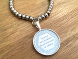 Let Your Own Kindness Be an Example to Others Stainless Steel Glitter Bracelet