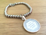 Never Doubt What You Began in Faith Stainless Steel Glitter Bracelet