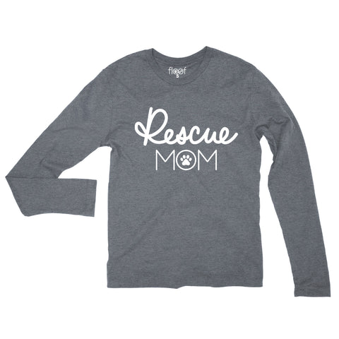 Rescue Mom Paw Long Sleeve Tee